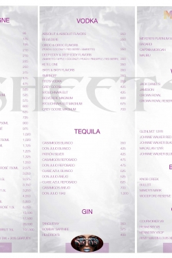 Maya Nightclub Menu