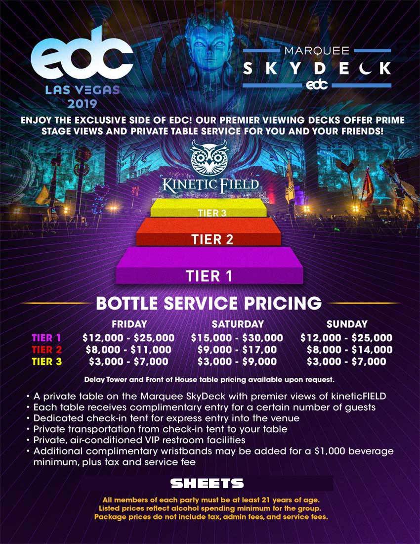 EDC Camp Las Vegas 2019 | Hotels, Tickets & Marquee Skydeck